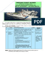 Notification Indian Coast Guard Assistant Commandant Posts