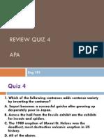 Eng 101 Quiz4Review APA