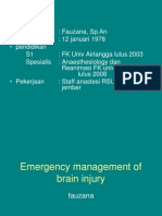 dr Fauzana, Sp.An - Emergency Management Of Brain Injury.ppt
