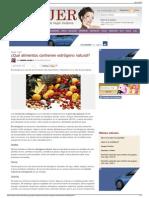 ¿Qué alimentos contienen estrógeno natural - eMujer.com