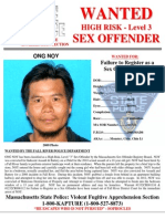 Ong Noy Sex Offender Wanted Poster