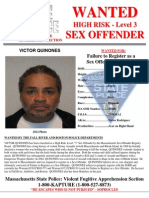 Victor Quinones Sex Offender Wanted Poster