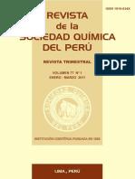 Rev Soc Quim Peru Vol 77 N 1  año 2011[1]