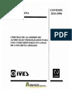 COVENIN 3231-1996 Cerchas de alambres de acero electrosoldadas para uso de refuerzo en losas de concreto armado.pdf