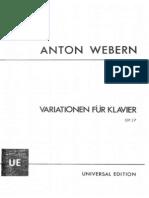 webern - variationen für klavier op. 27