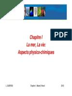 Chapitre I Aspects Physico-chimiques Du Milieu Marin Format PDF