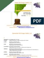 Essential Oil Usage Guide A-Z Gouden Horizon