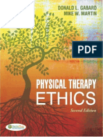 Physical Therapy Ethics, 2011