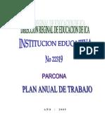 Plan de Trabajo Anual 2009
