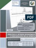 PRÁCTICA 2 - ESTUDIO ECONÓMICO Y PREPARACIÓN DE LA OFERTA