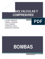 BOMBAS, VÁLVULAS Y COMPRESORES
