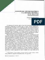 Arti. La invención del método histórico y la historia metódica en el S. XIX.pdf