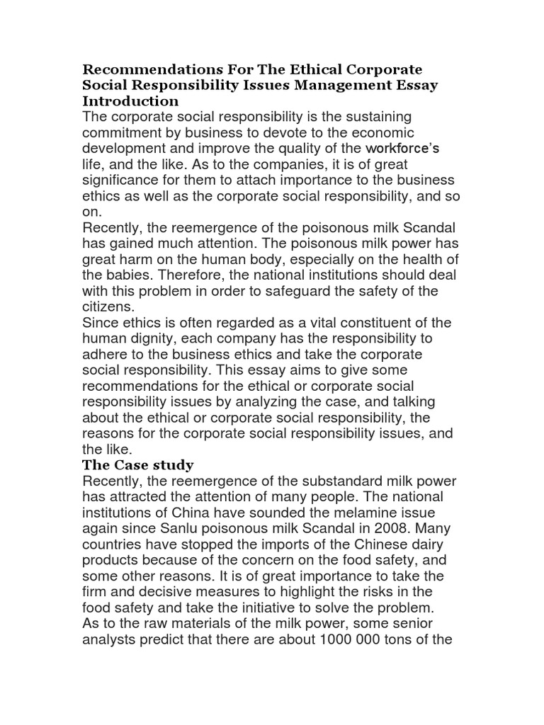 Essay On English Language  Sample College Essays also My Country Sri Lanka Essay English Recommendations For The Ethical Corporate Social  Sample Essay English
