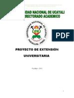 Proyecto de Extencion -Unu 2013