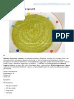 vellutata Di Zucchine e Piselli