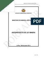 Anteproyecto Final Ley Minera