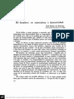 ESTRADA, J.M.de - El Hombre, Su Naturaleza e Historicidad