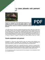 Casa Plasata Sub Pamant Sau in Copac
