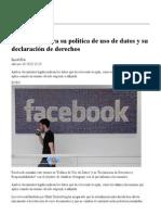 Facebook aclara su política de uso de datos