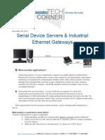 TechCorner 38 - Serial Device Servers