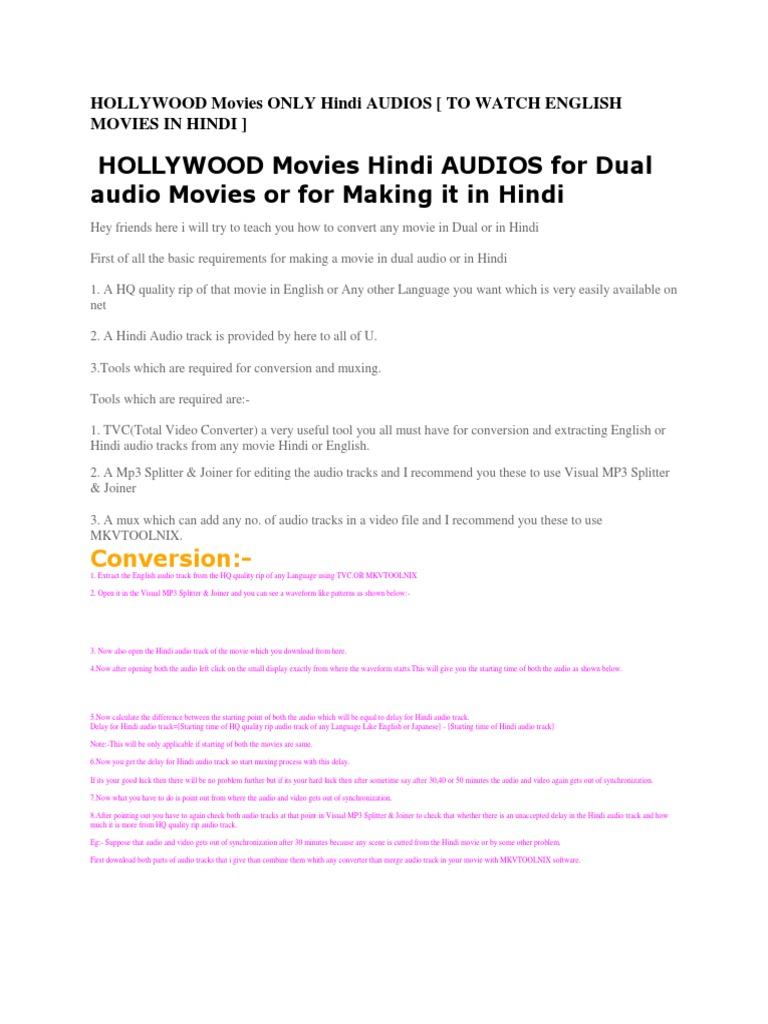 Hollywood Movies Only Hindi Audios James Bond Harry Potter