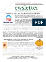 WELLNESS GROUP Newsletter October 2013