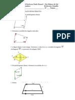 avaliação 8c - quadrilateros