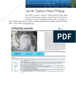 CFC Typhoon Haiyan Webpage Announcement