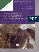 La Grammaire Des Premiers Temps V1 Reponses Corriges
