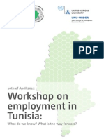 Workshop on Employment in Tunisia
