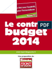 Contre-budget du arti de gauche 2014 écosocialisme