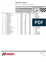 TUDOR Championship Sebring Test Session 3