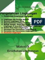 Materi IX - Pengetahuan Lingkungan