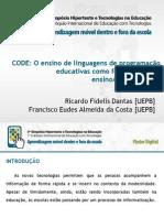 CODE - O ensino de linguagens de programação educativas como ferramentas de ensino-aprendizagem.pptx