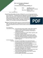 Bsc 116 Syllabus