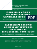 Deuxieme Cours de Linguistique Generale - Saussure's Second Course of Lectures on General Linguistics