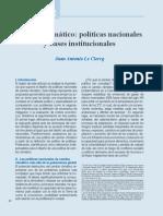 Cambio climático políticas nacionales