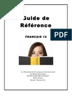player pdf french 12 study guide aka bible