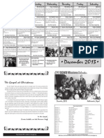 December 2013 Missions Prayer Calendar