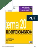 Tema 20 - Elementos de cimentación