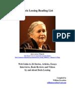 Doris Lessing Reading List