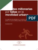 Perdidas Millonarias Fallas Movilidad Urbana ZMVM 2012
