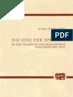 (Archiv für Begriffsgeschichte) Karl-Otto Apel-Die Idee der Sprache in der Tradition des Humanismus von Dante bis Vico (Archiv fur Begriffsgeschichte)-Bouvier Verlag (1975)