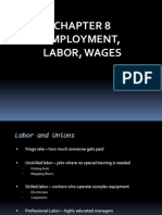 Chapter 8 - Employment, Labor, Wages