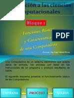 Funciones y Caracteristicas de Una Computadora. Ut