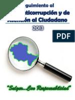 Seguimiento al Plan Anticorrupción y de Atención al Ciudadano 2013 (Agosto)