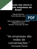 A inovação nas micro e pequenas empresas do Brasil