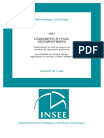 INSEE Cours Ecotrie Var Quali