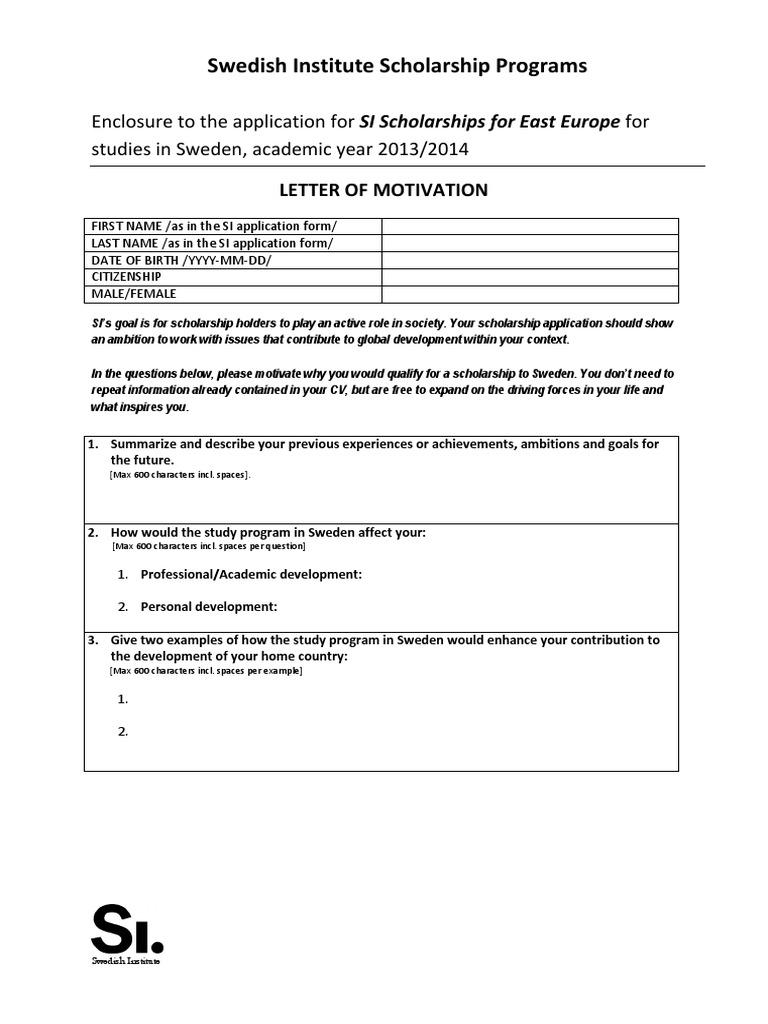 Motivation letter east europe scholarship spiritdancerdesigns Images
