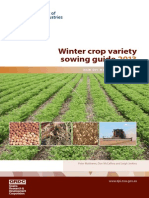 Winter Crop Variety Sowing Guide